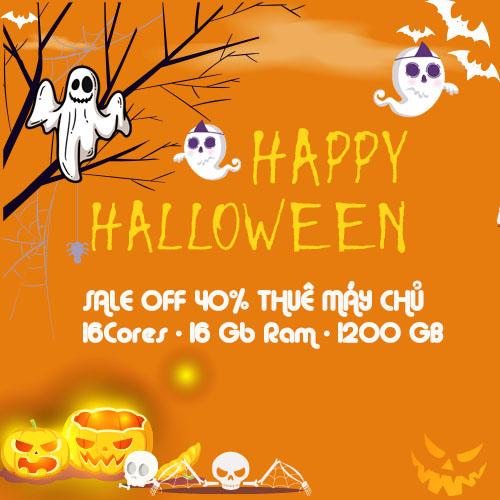 Giảm 40% Thuê Server HP Nhân Dịp Halloween